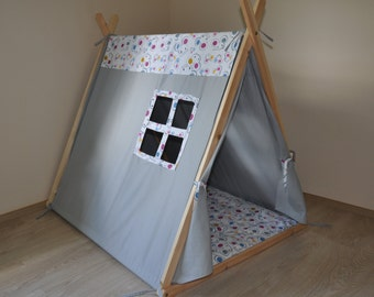 Wood tent frame etsy for How to build a canvas tent frame