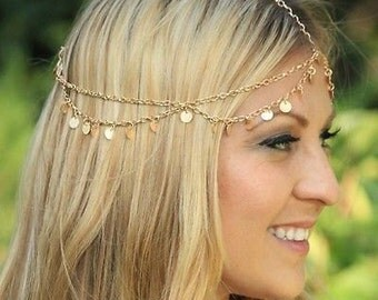 Bohemian Head Chain/Jewellery Gold