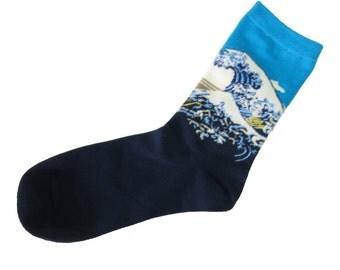 The Great Wave off Kanagawa Socks
