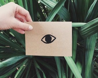 Eye Block Print Notecard