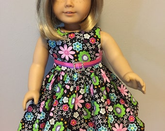 Fabulously  floral Dress for 18inch dolls