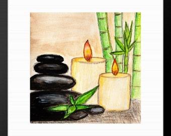 Bathroom Zen Art spa wall art | etsy