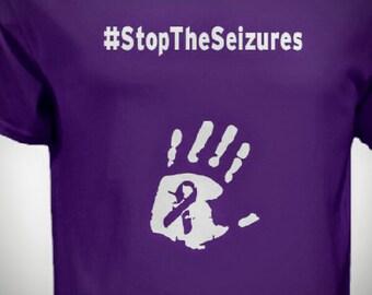 Epilepsy Awareness Tee Shirt, Stop the Seizures