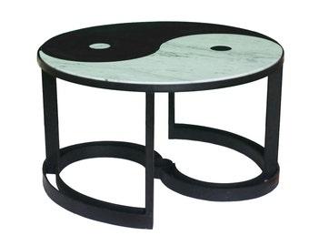 Yin yang table etsy for Table yin yang basse