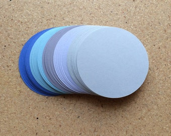 50 - 3 inch Circle Die Cuts  Rainy Day Colors  for Paper Crafts