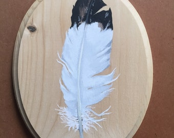 White Feather Painting