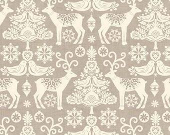 Fabric patchwork Scandi 2 - Dimension for 1 quantity 30cmX110 cm - pattern Scandinavian MAKOVER-100% cotton