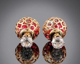 Beautiful stud earrings
