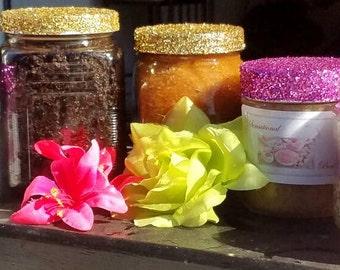 Brown Sugar and Vanilla Body Scrub with Souvenir Jar