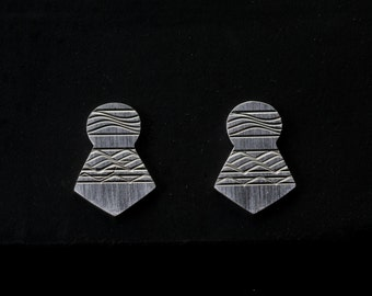 guillochierte earrings with 925 Silver fantasy form