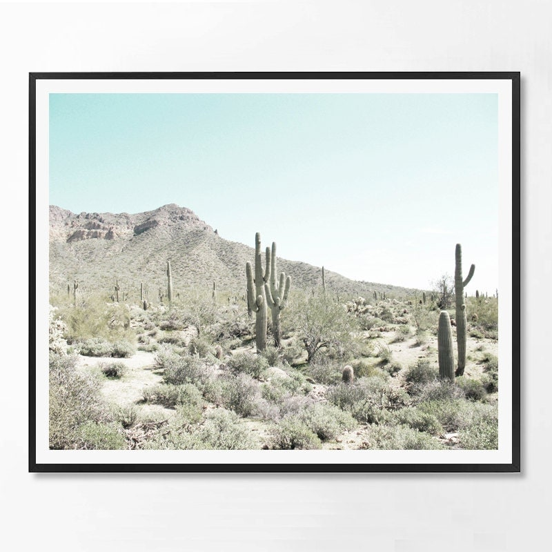 Desert Decor Western Espagne: Desert Art Cacti Print Cactus South Western Decor Cacti