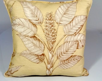 Designer pillow, Thibaut pillow cover, throw pillows, floral design