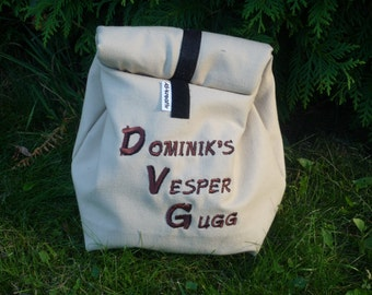 Cooler Lunchbag size 3, embroidered, Vesper bags, snack bags, breakfast bag, can be customized