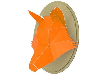 Paper - Fox head trophy - Orange
