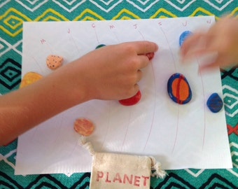 Hand painted planets   Solar system learning