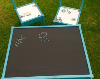 Chalk board table and chairs