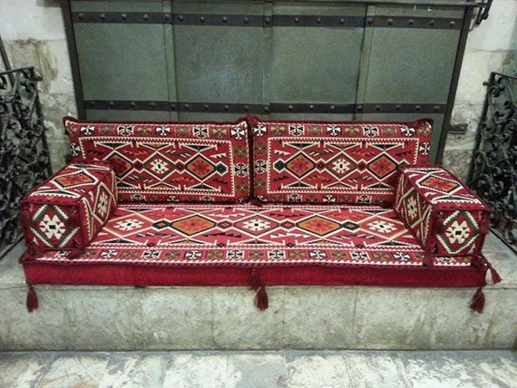 Arabic oriental seating cover set phrygia majlis rug for Indische sofas