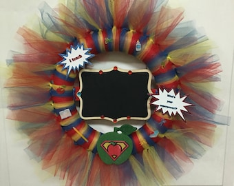 Teacher tulle wreath