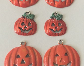 Hand Painted Jack O Lantern Charms
