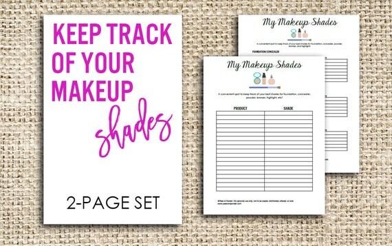 printable makeup product worksheet set. Black Bedroom Furniture Sets. Home Design Ideas