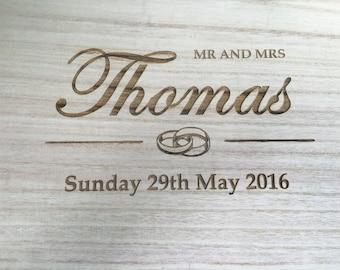 Wedding memory / keepsake box