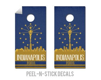 Indianapolis State Flag Skyline Decals