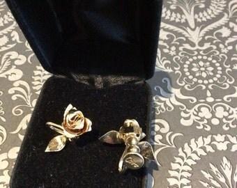 Vintage Coro Rose Earrings