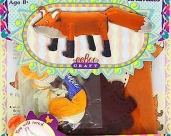 eeBoo Waste-Not Fox Sewing Kit New