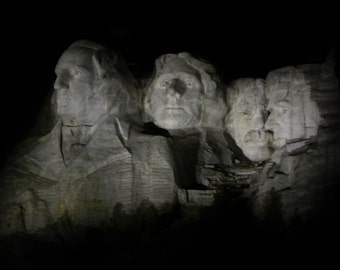 Mount Rushmore Night 8x10 Photo