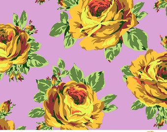 Rose Lore print in Violet by Amy Butler - cotton fabric