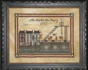 Boston Tea Party Cross Stitch Pattern