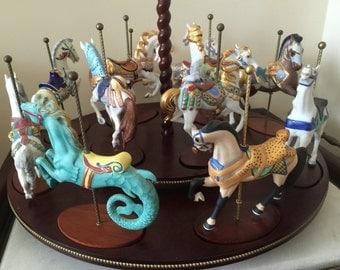 Franklin Mint Horse Carousel