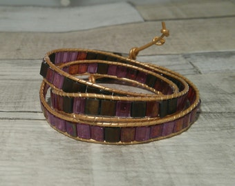 Handmade wrap around bracelet
