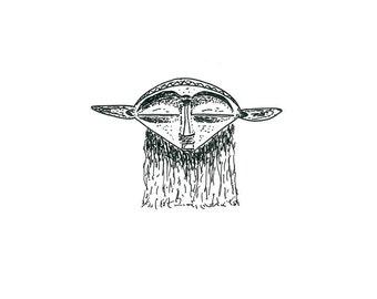 Art Print 'Mask', July 2016. Limited edition.