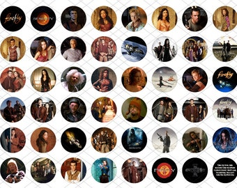 48 one inch round images - Firefly / Serenity