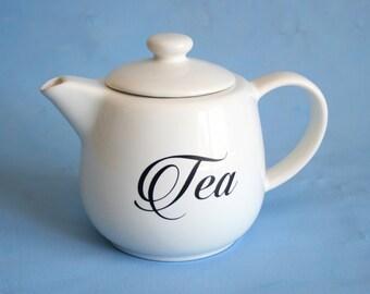 White Teapot, Teapot, Kitchen Teapot, Teapot Decor