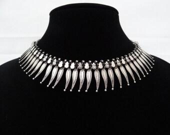 Vintage Oxidized Silver Ethnic Jewelry Set
