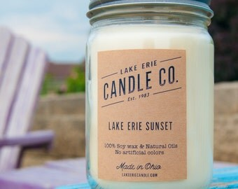 Lake Erie Sunset Candle - (12oz)