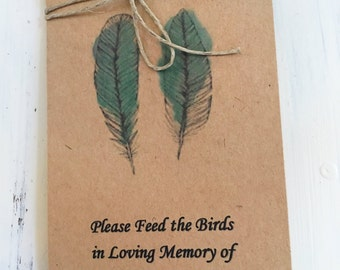 25 Life Celebration - favor - bird Seed - Funeral sympathy - keepsake - Funeral - Gift - celebration of life favors- Memorial bird seed