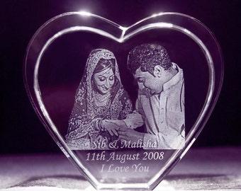 3D Wedding Heart Portrait