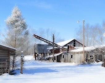 Sawmill in Winter