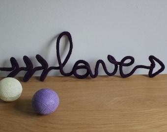 Love knitting, Love wool, woolen Word