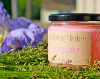 Soy Candle, All-Natural, Cotton Candy Scented Candle