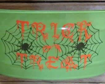 Trick or treat candy basket, halloween candy basket, halloween candy bowl
