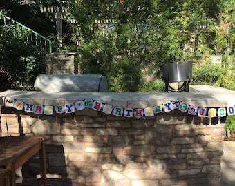 Super Hero Birthday Banner