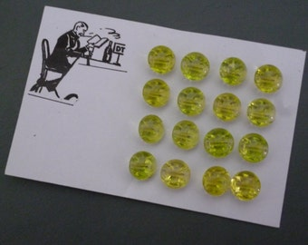 Set of vintage green glass buttons