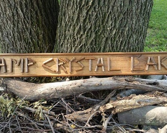 Friday the 13th Camp Crystal Lake FvJ sign