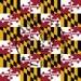 Maryland Flag Printed Craft Vinyl - State Flag Craft Vinyl and Heat Transfer Vinyl HTV - Maryland Flag Vinyl
