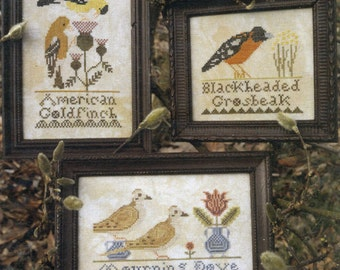 Bird Collection I by Heartstring Samplery Counted Cross Stitch Pattern/Chart