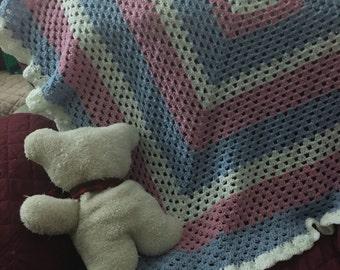 Baby Blanket (Pink/Blue)